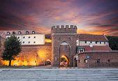 Sunset Over Old Town Of Torun, Poland.
