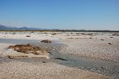 pic of italian alps  - The wide floodplain of the Tagliamento River in the northern Italian region of Friuli known as  - JPG