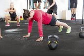 Workout group trains different exercises