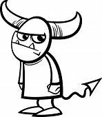 Little Devil Cartoon Coloring Page