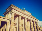 Retro Look Brandenburger Tor Berlin