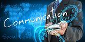 Businessman Hand Holding Communication