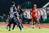 Sisaket Thailand-september 21: Watsapol Thosantia Of Sisaket Fc. In Action During Friendly Match Bet