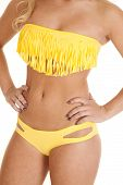 Close Swim Wear Yellow Fringe