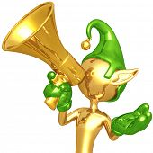 Elf With Megaphone