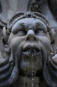 Part Of The Fountain In Piazza Della Rotonda