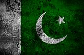 Grunge Flag Of Pakistan With Capital In Islamabad