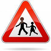 Beware Pedestrians Sign