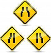 Narrow Road Sign
