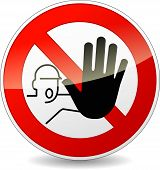 image of no entry  - illustration of no entry red and white sign - JPG
