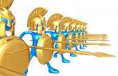 picture of hoplite  - Spartan Phalanx - JPG