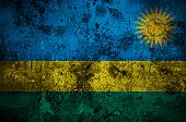 Grunge Flag Of Rwanda With Capital In Kigali