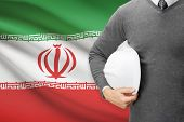 Architect With Flag On Background  - Iran