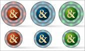 Set Of Six Icons With Ampersand