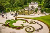 Linderhof Palace With Fountain And Garten