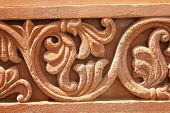stock photo of jain  - engraving structure in nareli jain temple - JPG