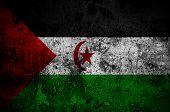 Grunge Flag Of Western Sahara With Capital In Laayoune