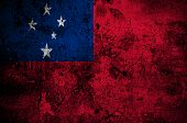 picture of samoa  - grunge flag of Samoa with capital in Apia - JPG
