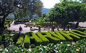 Ornamental Garden In Medieval Village Marvao