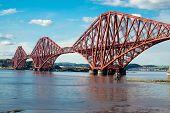 Forth railway bridge in Scotland