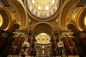 Ornate architecture, St. Stephen's Basilica, Budapest
