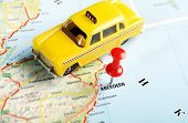 Aberdeen  Scotland; Great Britain Map Taxi