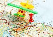 Edinburgh   Scotland Airplane Map