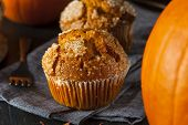 Homemade Autumn Pumpkin Muffin