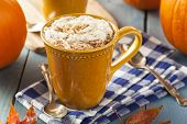 picture of latte  - Autumn Pumpkin Spice Latte with Milk and Cream - JPG