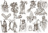 Halloween, Wizard And Witches - An Hand Drawn Vector Pack