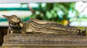 Golden Reclining Buddha Statue