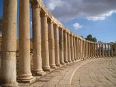 Square columns in Jerash archaeological