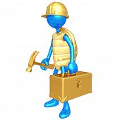 Construction Worker Turtle