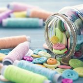 Multicolored Buttons And Spools Of Thread4