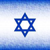 foto of israel israeli jew jewish  - Abstract Background using Israel flag colors - JPG