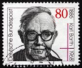 Postage Stamp Germany 1986 Karl Barth, Protestant Theologian