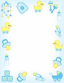 image of announcement  - Illustration of a baby shower invitation card  - JPG