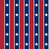 Background In The Style Of The American Flag.