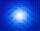 Blue Starburst Background