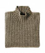 Folded Cashmere Turtle Neck Sweater