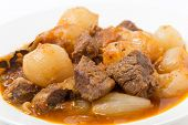 pic of stew  - A bowl of traditional Greek stifado - JPG