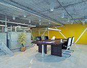 modern loft office interior. 3d design concept