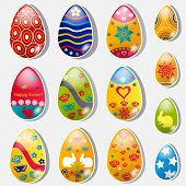 Set Of Paper Easter Eggs