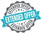 Extended Offer Vintage Turquoise Seal Isolated On White