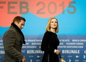 BERLIN, GERMANY - FEBRUARY 06: Nicole Kidman, Damian Lewis press conference during the 65th Film Festival at Hyatt Hotel February 6, 2015 in Berlin, Germany.