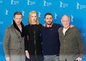 BERLIN, GERMANY - FEBRUARY 06: Nicole Kidman, Damian Lewis, James Franco, Werner Herzog, photocall 'Queen of the Desert'. 65th Film Festival at Hyatt Hotel on February 6, 2015 in Berlin, Germany.