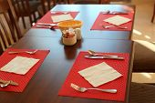 image of all-inclusive  - served table in all inclusive restaurant prepare for breakfast - JPG