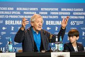 BERLIN, GERMANY - FEBRUARY 08: Sir Ian McKellen attends the 'Mr. Holmes' press conference. 65th Berlinale International Film Festival at Grand Hyatt Hotel on February 8, 2015 in Berlin, Germany.