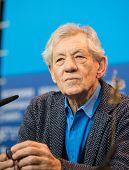 BERLIN, GERMANY - FEBRUARY 08: Sir Ian McKellen attends the 'Mr. Holmes' press conference. 65th Berlinale International Film Festival at Grand Hyatt Hotel on February 8, 2015 in Berlin, Germany.