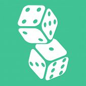 pic of dice  - Two Casino Gambling Dices Vector Illustration for Your Projects - JPG